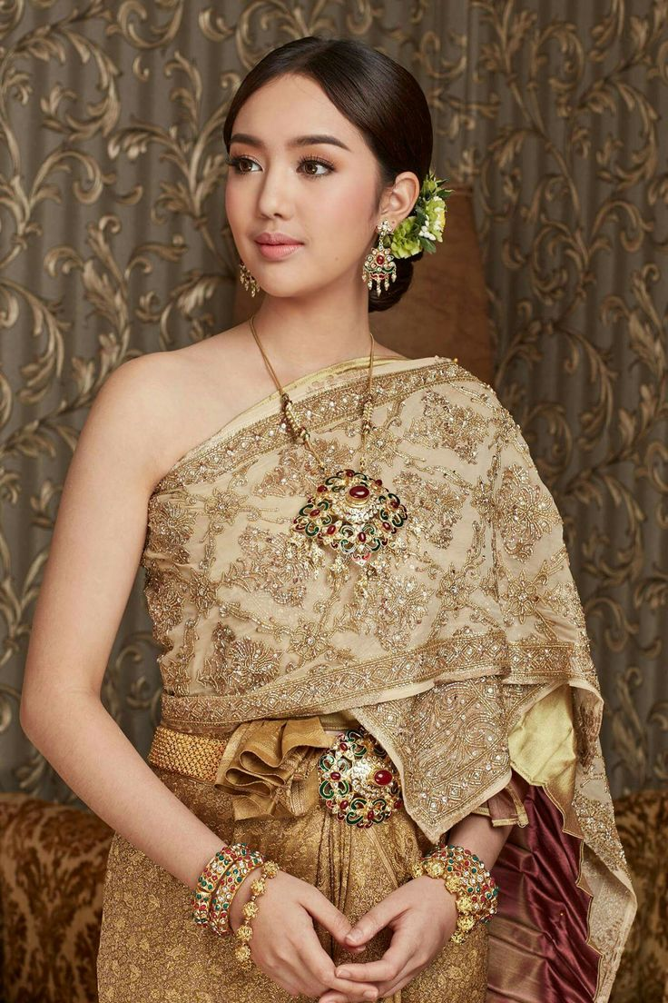 74 best thai dress images on pinterest thai dress thai for Thai style wedding dress
