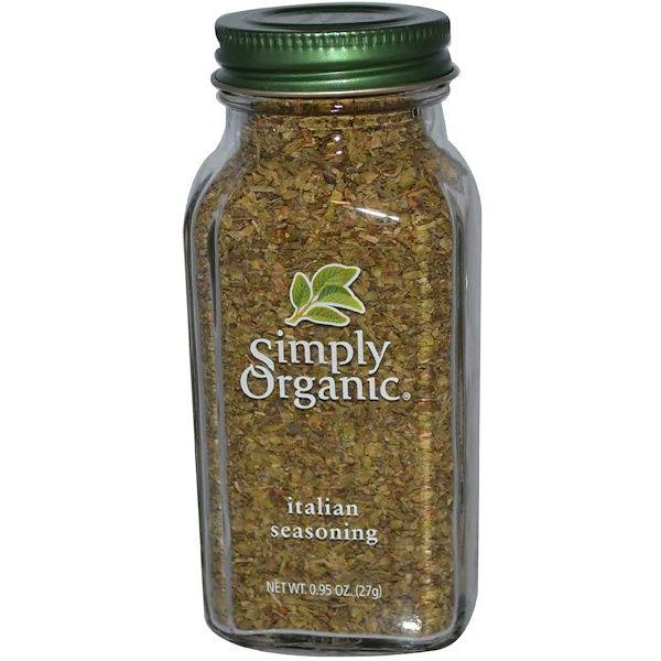 Simply Organic Italian Seasoning 0 95 Oz 27 G Simply Organic Organic Garlic Italian Seasoning