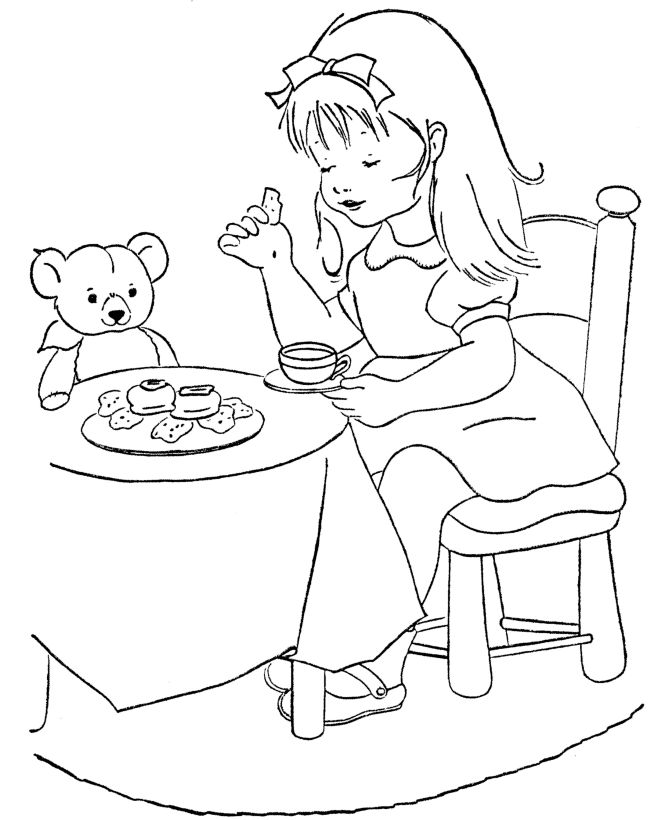mcbleausardinfo - Teddy Bear Picnic Coloring Pages