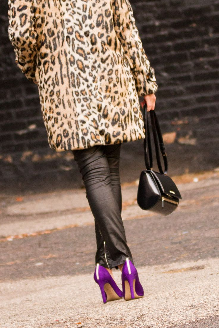 Leopard and faux leather on The Boyish Girl