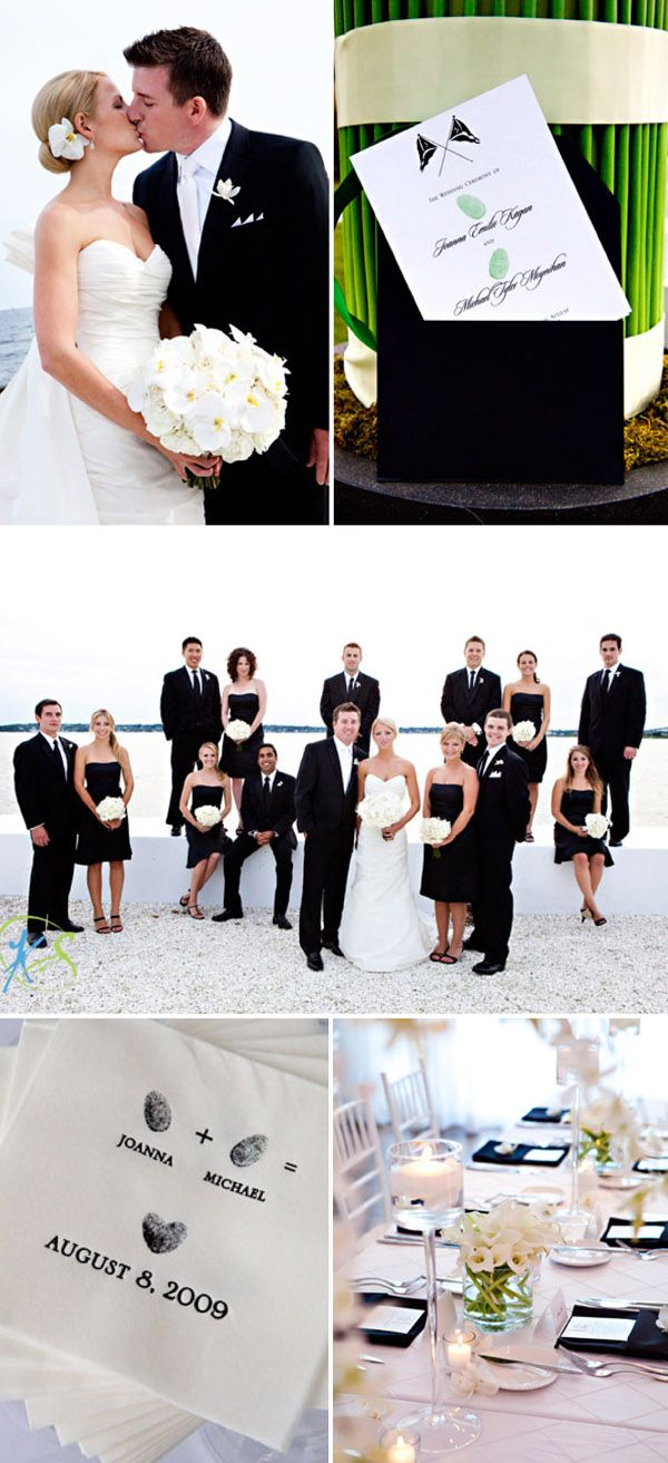 gorgeous black and white wedding. wouldn't do black bridesmaids though.