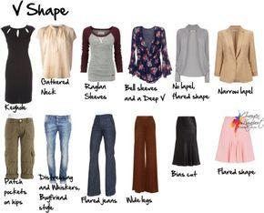 Body Shapes Explained - V shape (Inverted Triangle) I HAVE TRIANGLE SHAPE WITH NO WAIST.