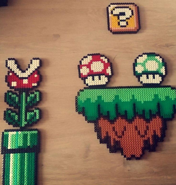 Super Mario World Hama Perler Bead
