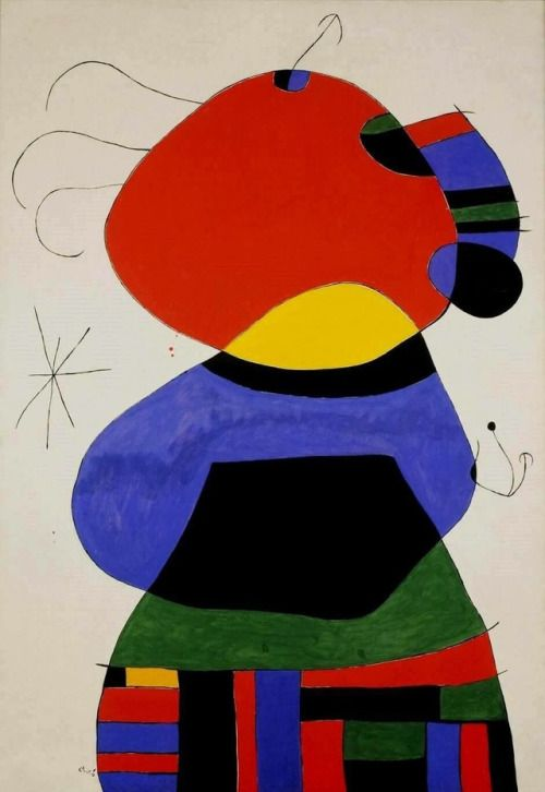 "Joan Miró ""Woman with three hairs"", 1972"