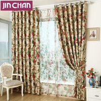 Terminado de lujo Floral cortinas oscuras ventana para sala de estar del dormitorio cocina cortinas cortinas Panel