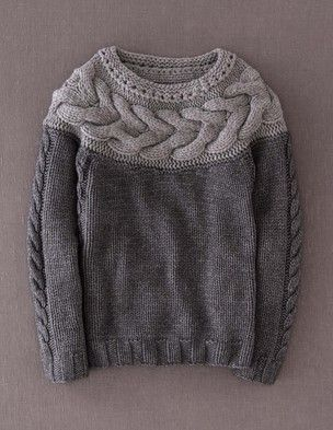 I've spotted this @BodenClothing Handknit Cable Sweater Charcoal Melange