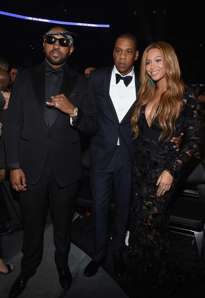 Beyonce Knowles Photos Photos - (L-R) Music Producer Mike Will Made It and recording artists Jay Z and Beyonce attend The 57th Annual GRAMMY Awards at the STAPLES Center on February 8, 2015 in Los Angeles, California. - The 57th Annual GRAMMY Awards - Backstage
