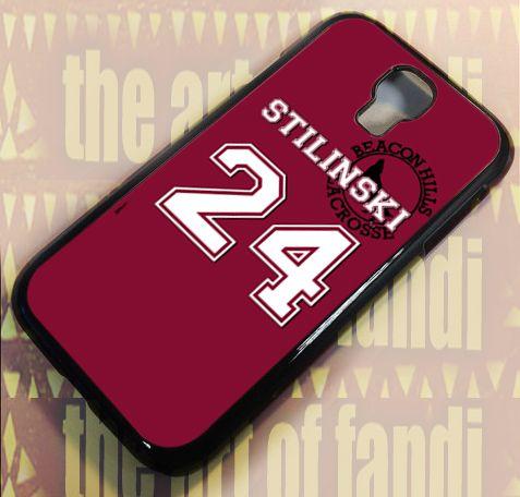 Teen Wolf STILINSKI Lacrosse For Samsung Galaxy S4 Black Rubber Case