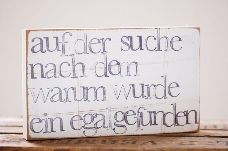 """Bilderrahmen - Text Wandbild """"Warum"""" aus Holz - ein Designerstück von iopla bei DaWanda"""