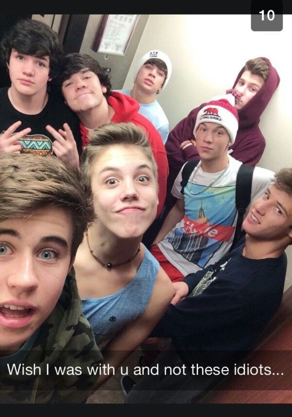 IMAGINE: Nash Snapchatting you in the elevator going to their room in the hotel
