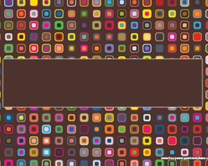 Colorful Squares PPT has a  retro template or retro design for fun presentations #backgrounds #templates
