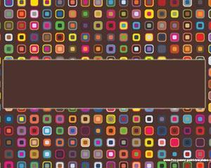 Cuadrados Coloridos es una plantilla de Powerpoint bastante colorida para presentaciones modernas