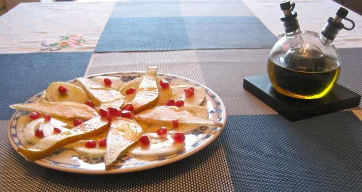 Fennel Pear and Pomegranate Salad