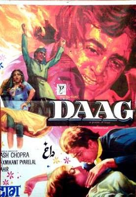 Daag (1973), Rajesh Khanna, Classic, Indian, Bollywood, Hindi, Movies, Posters, Hand Painted