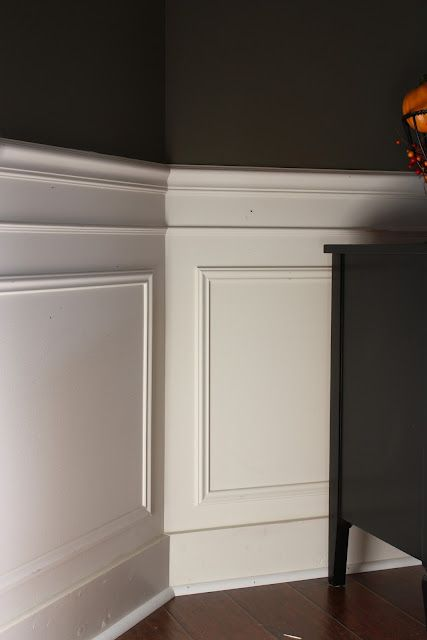 I like this version of picture frame moulding.  Like the extra horizontal line