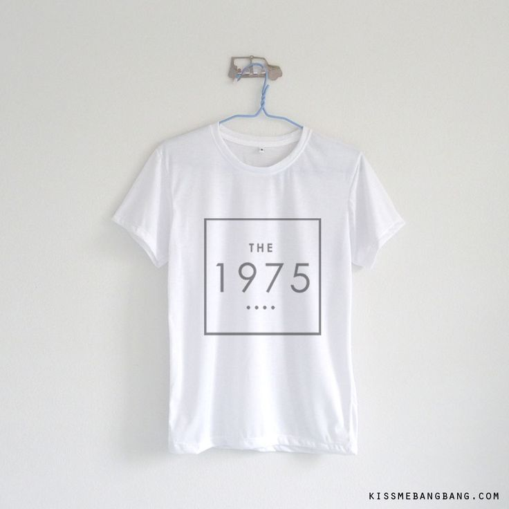 the 1975 square_Tshirt_White