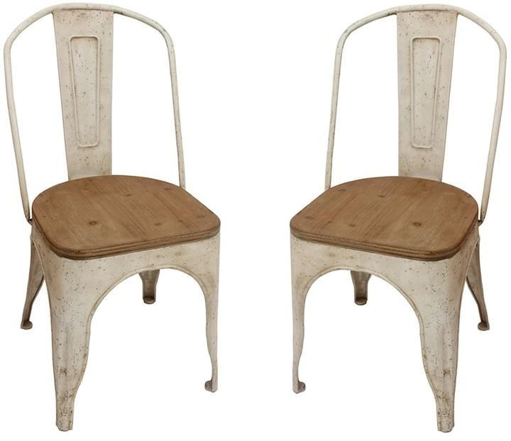 #rusticchic  dining chairs in metal and wood. Looking for something unique to decorate your dining room. How about these chairs. I love the combo on metal and wood. And the color... oh ya, that a pefect  choice for your #farmhousedecor. Follow this #adlink for a closer look.
