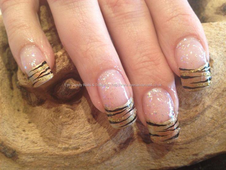 Freehand tiger stripe nail art looove it!!!