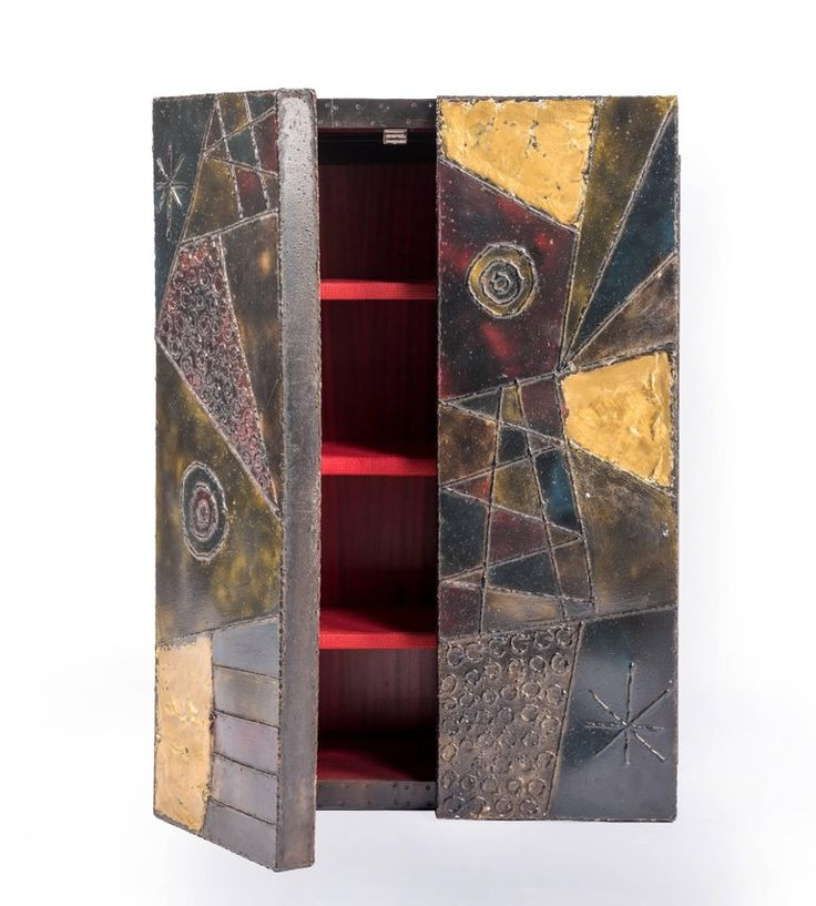 Paul Evans Wall-Mounted Cabinet, Signed and Dated 1972 3