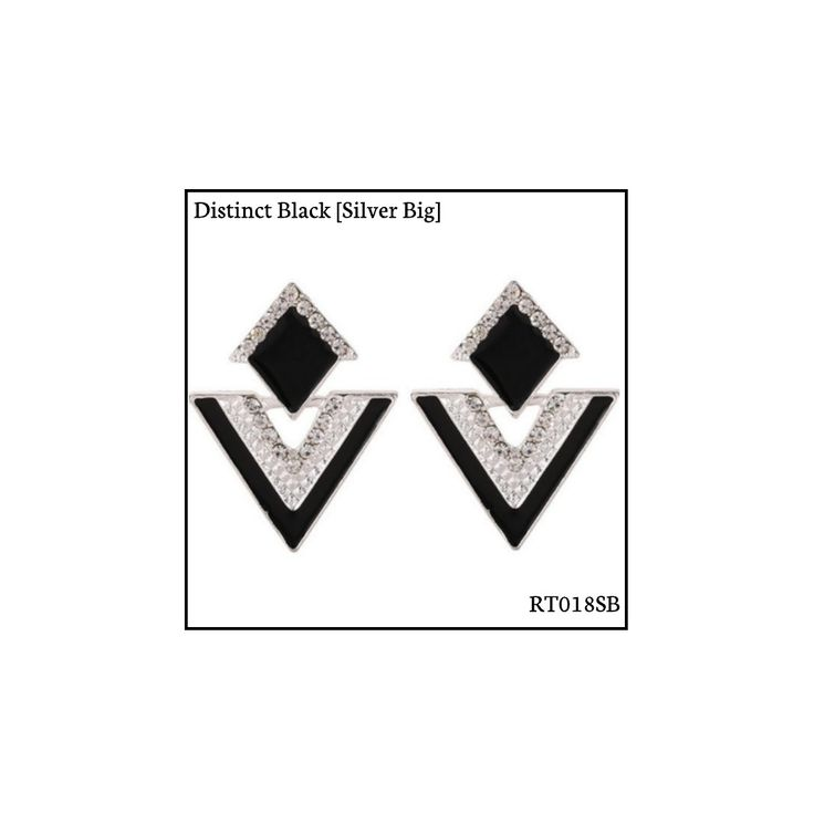 Ref: RT018SB Distinct Black [Silver Big] . Medidas: 3.5 cm x 2.8 cm . So Oh: 5.99 . Disponível para entrega imediata! Boas compras! #sooh_store #onlinestore #rhombus #trigonal #brincos #earrings #fashion