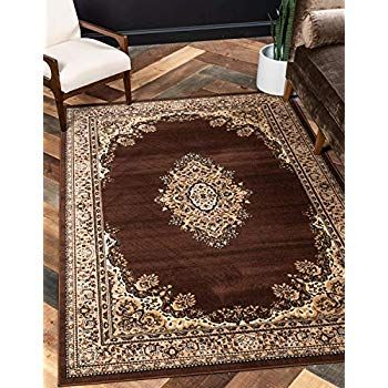Unique Loom Reza Collection Classic Traditional Brown Area Rug 5