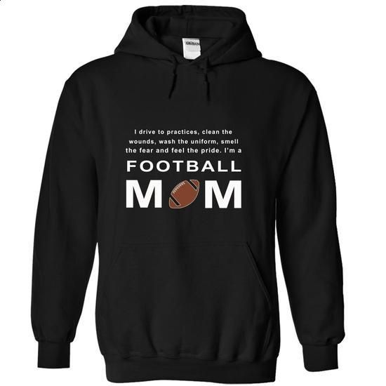 FOOTBALL MOM - #style #designer shirts. I WANT THIS => https://www.sunfrog.com/Sports/FOOTBALL-MOM-Black-i6g4-Hoodie.html?60505