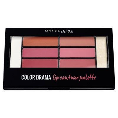 #Maybelline Color Drama #Lip Contour Palette  #Палетка #ColorDrama из разных по насыщенности оттенков #помады