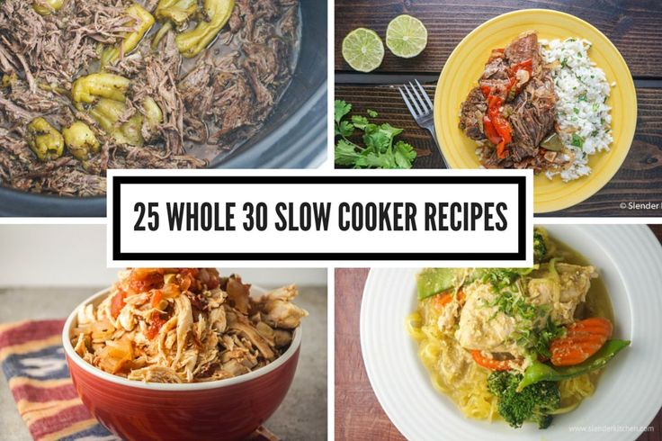 If you are considering doing a Whole30, the slow cooker can be your best friend.  First, it's an easy and stress free way to prepare a meal. Additionally, since many people struggle with lunches...