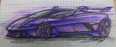 Always Creative: Lamborghini Diablo Concept Sketch