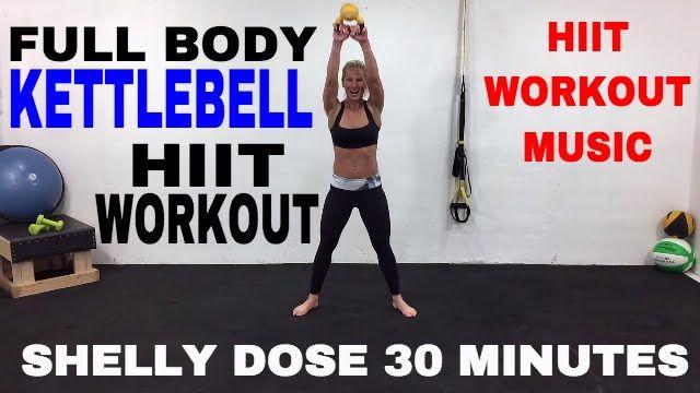 Total Body Cardio Kettlebell HIIT Workout Video, Kettlebell Workout -33min