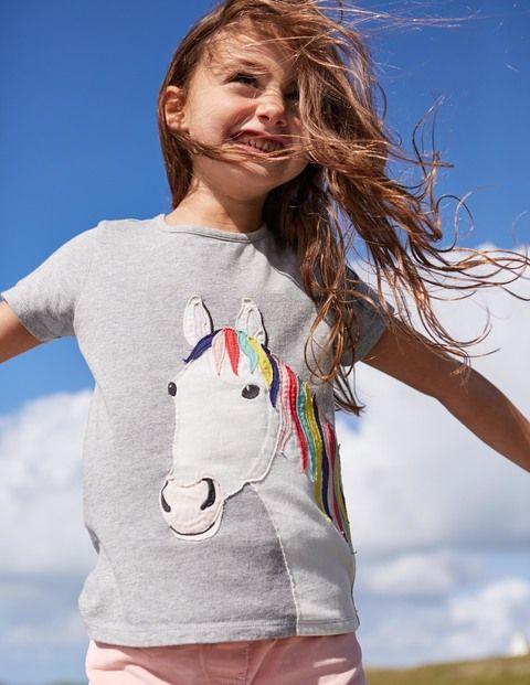 Big Appliqué T-Shirt (Grey Marl Horse)