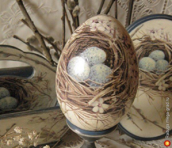 """Пасхальное яйцо """"Вербное воскресенье"""" - Авторская работа, подарки на крещение, пасху. МегаГрад - online выставка-продажа авторской ручной работы"""