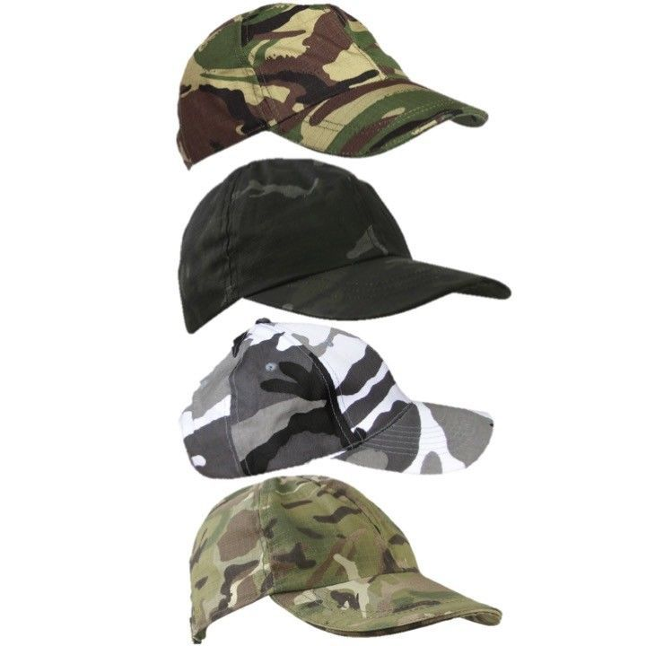 Kids Unisex Camo Camoflague DPM Baseball Cap One Size! Military Fancy Dress