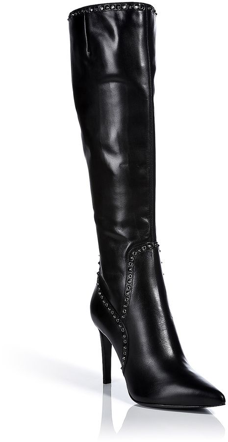 Sergio Rossi Leather Tall Rocker Boots