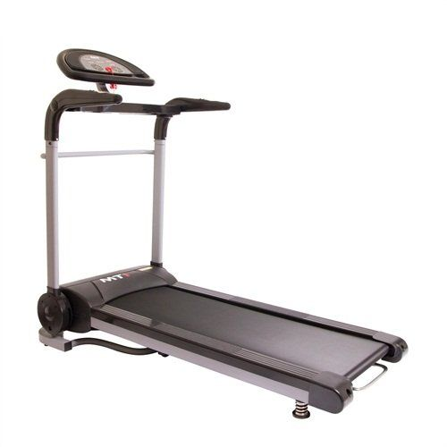 Confidence MTI 1100W Heavy Duty Motorized Electric Folding Treadmill Running Machine. 0.6mph to 7.5mph speed - start building your fitness by walking, and progress up to a run at your own pace, 12 built in fitness programs, Built-in speakers with 3.5mm jack for listening to MP3 players whilst running, 5 LED displays showing speed, distance, time, calories and heart rate. 6 quick select preset speeds, then adjust to your desired level, Speed adjustors on hand bars, Heart rate monitor (only...