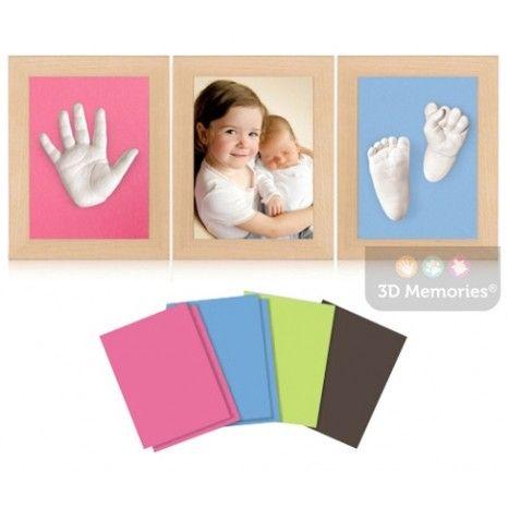 3D Memories odlévací sada baby pro 3D odlitek ručiček a nožiček - tři olšové rámečky