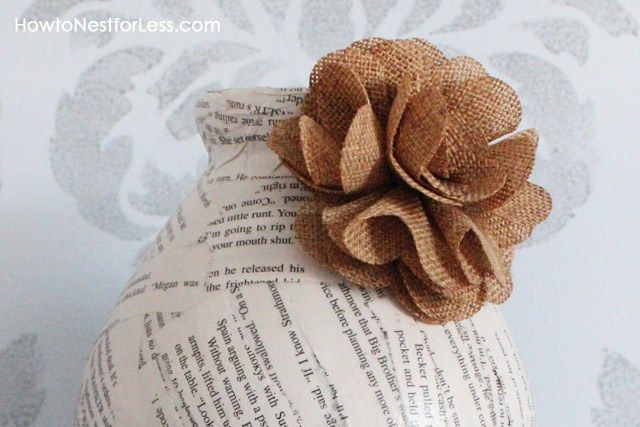 Flores de arpillera modelo colores simple