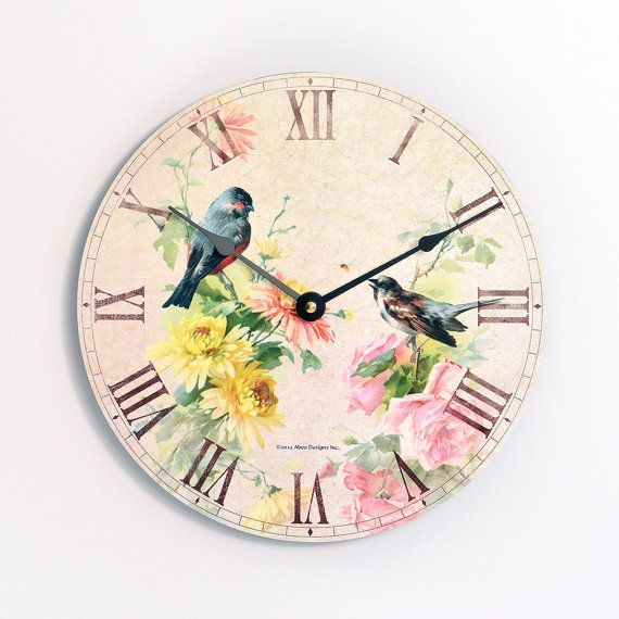 A 10 Inch Diameter Wall Clock With Vintage Shabby Chic Or Victorian Style Image Clocks Chic Clock Cloc Pink Clocks Shabby Chic Vintage Shabby Chic