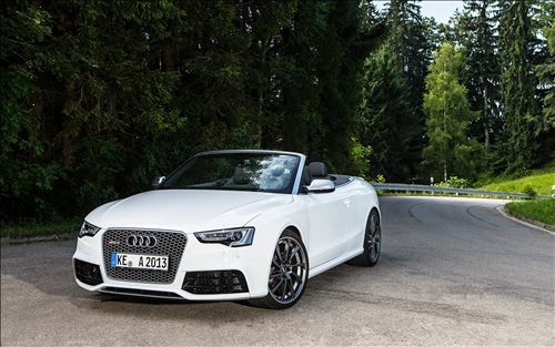 ABT Sportsline, the Bavarian tuner, has released a tuning package for the 2014 Audi RS5 Cabrio. The modified Audi RS5 Cabrio delivers 450 hp of peak power with a 4.2 FSI engine and has a top speed of 290 km/h (180 mph).