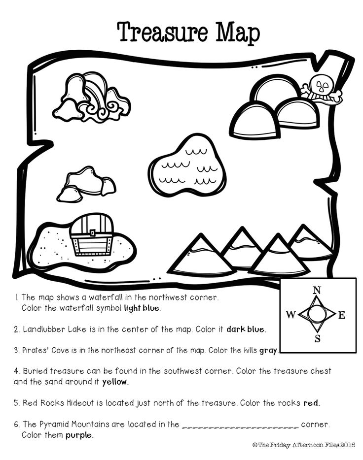 FREEBIE! Cardinal direction practice and beginning map