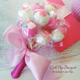 Valentine's Day Cake Pop Bouquet