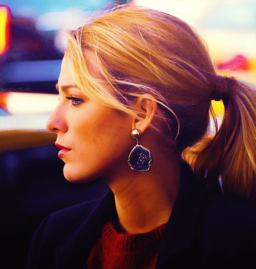 the ponytail and earrings