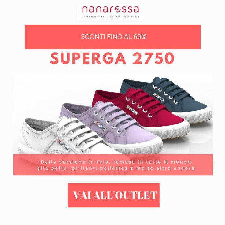 OUTLET Nanarossa: Superga 2750 scontate fino al 60% Vai all'outlet e scopri i numeri ed i colori disponibili! https://www.nanarossa.com/it/5899-fuori-tutto-