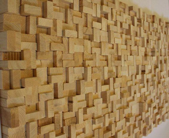 Rustic reclaimed  Wood wall Art, wood wall sculpture, abstract wood art, Modern…