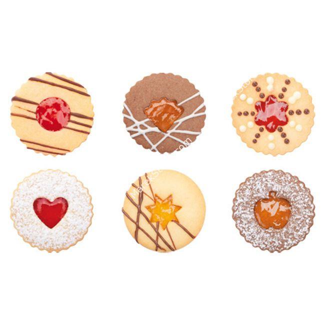 Foremki do przekładanych ciastek - komplet 8 szt.   TESCOMA DELICIA