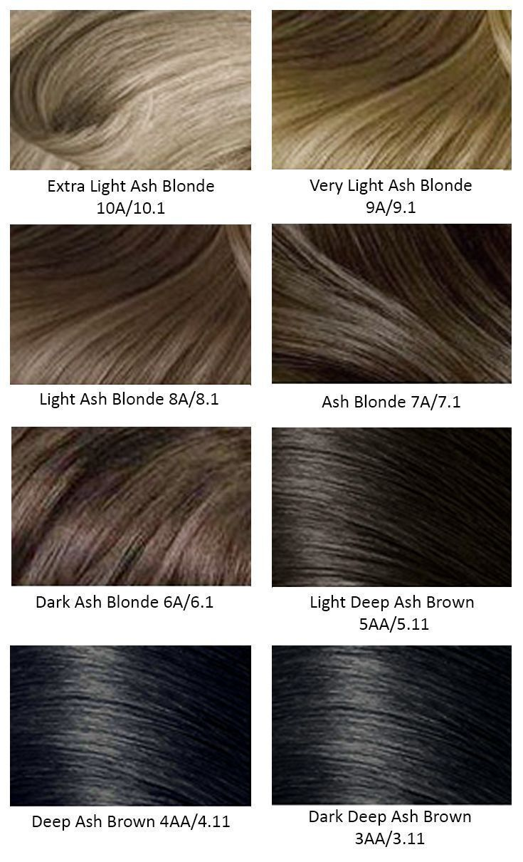 light ash brown hair color chart