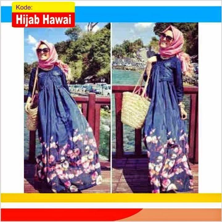 Baju Gamis Wanita Modern Hijab Hawai Koleksi Terbaru