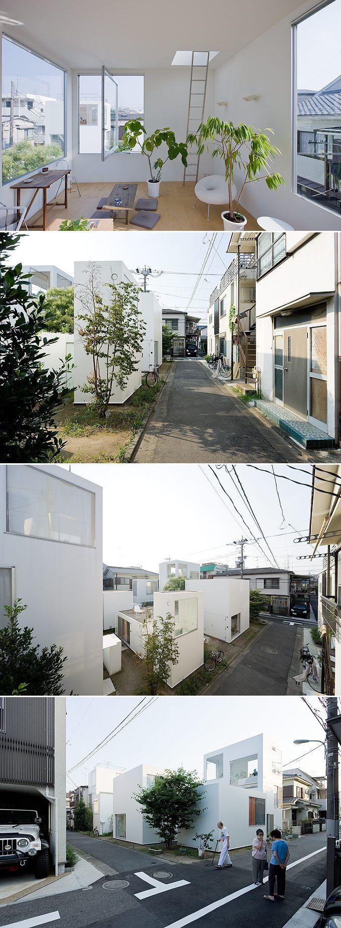 Moriyama Houses - Tokyo, by SANAA Studios / photo Iwan Baan