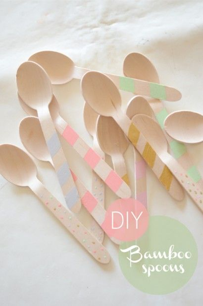 DIY bamboo spoons via The Ruche Blog