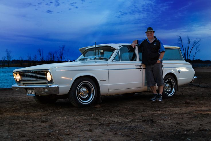 Brendan Ruiter with his 1976 VC Valiant Wagon